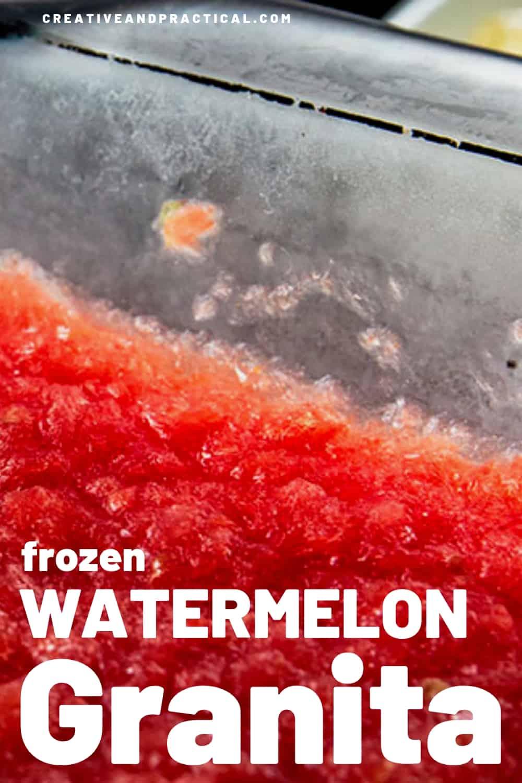 Frozen Watermelon Granita, naturally gluten-free