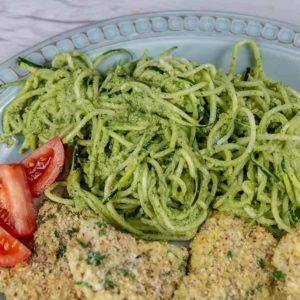 Pesto Zucchini Recipe with Cod